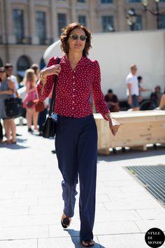 Haute Couture Fall 2015 Street Style  Ines de la Fressange 87cb8e57e09