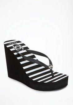 http://elle.shopstyle.com: Logo Stripe High Flip Flops