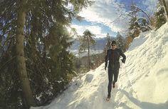 Winter-Trailrunning: große #GAP-Umrundung im neuen Jahr 2015. Hier: Andi auf dem Kellerleitensteig.