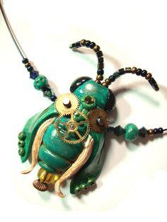 Steampunk Käfer handgemacht modelliert nach Anleitung von Christi Friesen