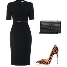 A fashion look from October 2017 featuring Damsel in a Dress dresses, Christian Louboutin pumps and Yves Saint Laurent wallets. Browse and shop related looks.