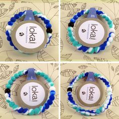 """Lokai Bracelet for a balanced life RAINBOW BLUE Colors """"FREE SHIPPING """"  Description Each lokai is infused with elements from the highest and lowest points on"""