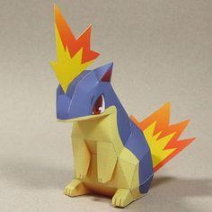 Quilava-Pokemon-Papercraft