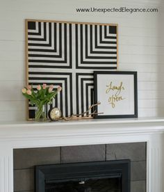 Black and White Bulletin some inexpensive artwork that can function as a bulletin board? Get a full tutorial for making your own DIY geometric artwork! Diy Wall Art, Diy Wall Decor, Diy Art, Diy Home Decor, Room Decor, Apartment Wall Art, Geometric Artwork, Large Metal Wall Art, Metal Art