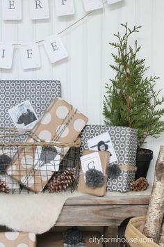 City Farmhouse- 10 fun & meaningful holiday wrapping ideas {polka dots}
