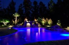 Image result for Swimming Pool Lighting Ideas