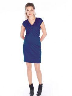Tehotenské šaty, ktoré sa po pôrode premenia na praktické šaty na kojenie.  Tieto šaty sú vyrobené z jemnej a pohodlnej viskózy. Krátky rukáv sa osvedčí pri pribratých ramenách. Vo výstrihu je kus látky, ktorý si pri kojení odhrniete a môžete ľahko vaše dieťatko dojčiť. V kombinácii so slušným sakom ponúkajú tieto šaty outfit na párty, ale rozhodne nie sú príliš nóbl na bežné nosenie do práce.