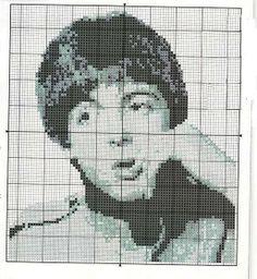 Borduurpatroon The Beatles Kruissteek *Cross Stitch Pattern ~Paul McCartney~