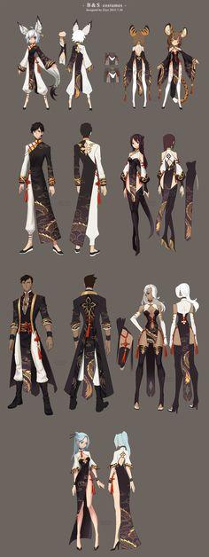 Bns costumes design by ZiyoLing.deviantart.com on @DeviantArt