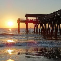 Rise + Shine, Tybee! It's going to be a beautiful day [Photo by Gail Human] #TybeeIsland