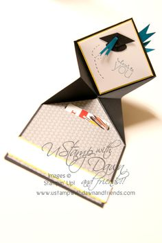 Graduation Cap card plus gift card holder