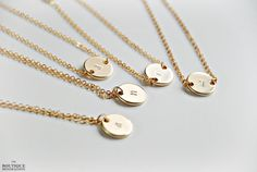 Initial necklace  gold by BoutiqueMinimaliste on Etsy, $23.00