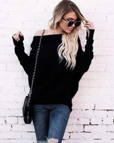 All That Ribbed Cashmere Sweater - Black