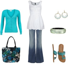 Summertime Blues, created by archimedes16 on Polyvore