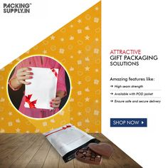 "The impact of premium packaging and the ""wow factor"" it creates cannot be ruled out. Effective, Influential, and Affordable - that's how you choose packaging material. Invest in Bow & Lace designer courier bags. Packing Supplies, Wow Factor, Lace Print, Printed Bags, Wow Products, Gift Packaging, Online Bags, Gift Bags, Bows"