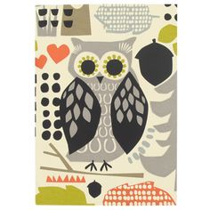 Paperchase - owl flock foil A5 notebook