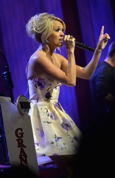Carrie Underwood celebrates her Grand Ole Opry 5th Anniversary in Nashville. 6/7/13