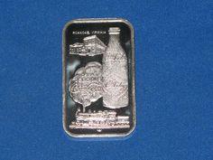 1977 Coca Cola Bottling Co. Silver Investing, Roanoke Virginia, Silver Bullion, Coca Cola, Bar, Coke, Cola