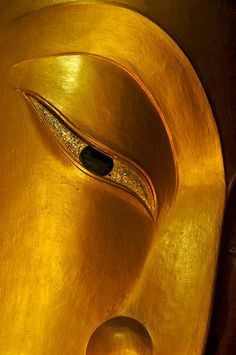 golden eye of buddha in meditation Buddha Buddhism, Buddha Art, Spiritus, Shades Of Gold, Sculpture, Mellow Yellow, Ganesha, Graphic, Spirituality