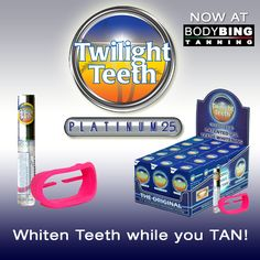 YES! It really does work, whiten teeth while you tan, after 2 sessions you'll notice. This stuff lasts about ten sessions, then just purchase another tube and not the kit :)