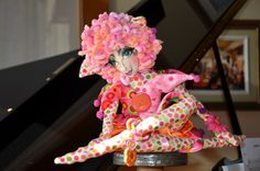 I created this doll by using Jackie Lecuyer's pattern.