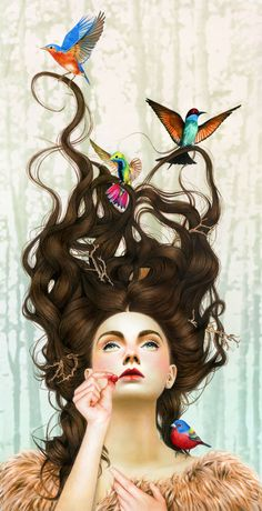 Lindas ilustrações por Morgan DavidsonZupi @tayjade3  makes me think of you :)