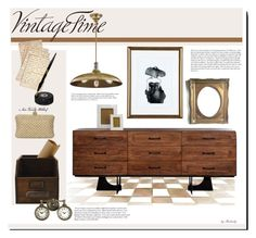 """""""Vintage Inspired Decor"""" by beebeely-look ❤ liked on Polyvore featuring interior, interiors, interior design, home, home decor, interior decorating, Cultura, Tag, Dot & Bo and Cullen"""
