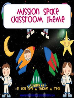 Mission Space Classroom Theme!! Love the hand signs!