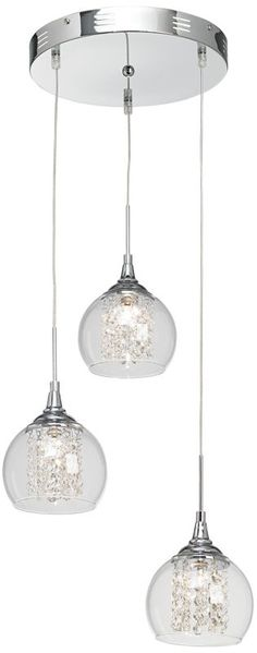 Encircled Crystal Possini Euro Halogen 3-in-1 Pendant -
