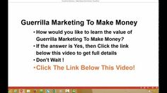 Learn The Value Of Guerrilla Marketing To Make Money