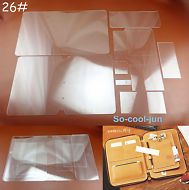 17Pcs Leather Craft Acrylic Shoulder Bag Pattern Stencil Templates for Adult