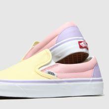 womens yellow \u0026 pink vans classic slip
