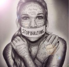 Stop bullying artwork by kristina Webb people need to understand that words hurt? how many more teenagers need to die to figure out that bullying is wrong? Anti Intimidation, Danger Internet, Stop Bulling, Deep Drawing, Sad Drawings, Drawings With Meaning, Art With Meaning, Abstract Drawings, Paintings With Meaning