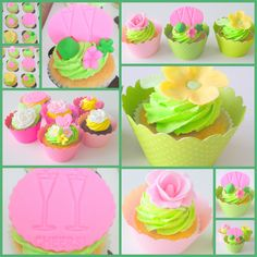 yellow and green cupcakes | ... to Decorate Easter Cupcakes « Couture Cupcakes by Dress My Cupcake