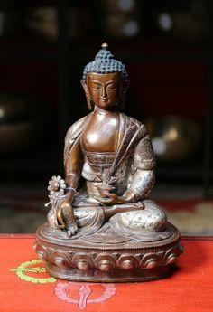 Bronze 13 inch Medicine Buddha Statue - Dharmashop.com