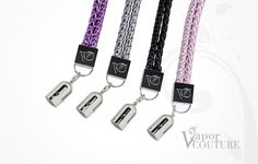 Dress up your Vapor Couture electronic cigarette with the new Vapor Couture bracelet and charm. Slip your Vapor Couture battery in the charm to keep it dangling at your wrist, or carry an extra flavor cartridge. This stylish woven bracelet is available in four colors. Add extra charms to your bracelet for extra bling!