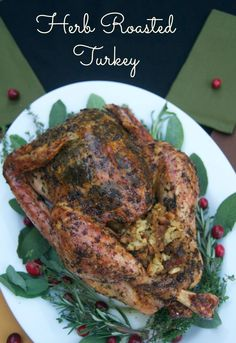 Herb Roasted Turkey - a beautiful and delicious presentation all in one! 365 Days of Baking & More @oxo #OXOTurkeyDay #shop