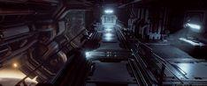 ArtStation - Sci-fi Armory Walkway, Gary Do