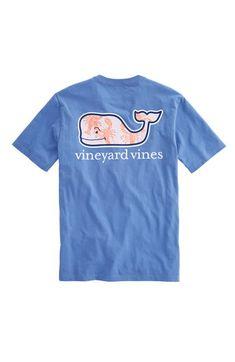Lobster Toss Whale Fill Pocket T-Shirt