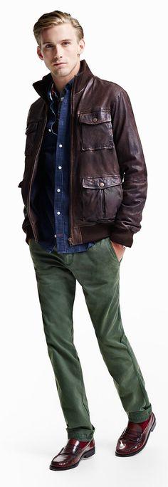 622cf383ac Tommy Hilfiger Tommy Leather Bomber Jacket