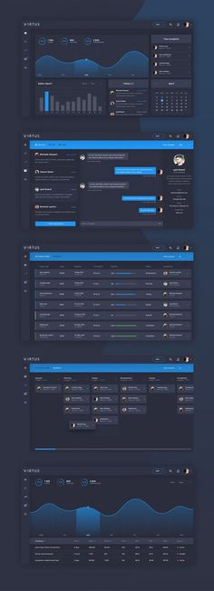 Virtus Dashboard Template PSD: