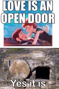 Jesus's love is an open door.. HA!!! I love this!!!!!!! Gotta show it to my nieces!