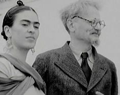"""""""Frida Kahlo and Leon Trotsky, who held a brief but intense romance"""". via ClassicPics on Twitter"""