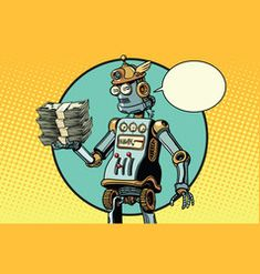 Retro robot with a bundle of money vector Free Vector Images, Vector Free, Retro Robot, Brunette Woman, Smurfs, Royalty, Money, Artist, Fictional Characters