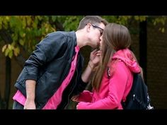 Pink Shirt Kissing Prank - YouTube