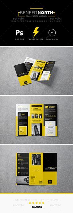 Trifold Brochure Template PSD - Download: https://graphicriver.net/item/trifold-brochure/21764927?ref=ksioks