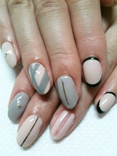 The black tipped/bottom one would make for an interesting manicure