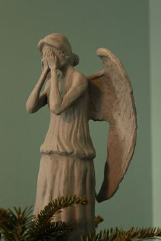 Weeping Angel Christmas Tree topper- if you dare.not for my trees but maybe yours when you are out of my house @Ariel White