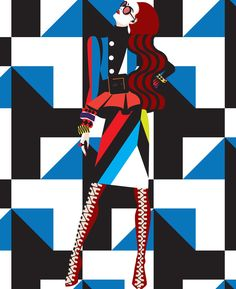 #pattern obsession #fashion #illustration