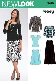 Blouse & Top Patterns - New Look Misses Separates Pattern
